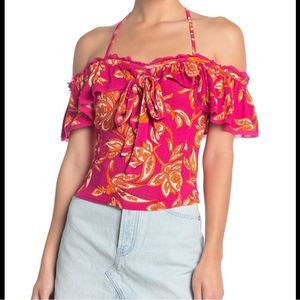 🆕Free People Cha Cha Cold Shoulder Top